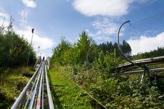 Bobsled kolejki górskiej tobogan w letnim dniu, Rittisberg, Austriaccy Alps Zdjęcie Royalty Free