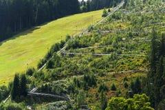 Bobsled kolejki górskiej tobogan w letnim dniu, Rittisberg, Austriaccy Alps Zdjęcia Royalty Free