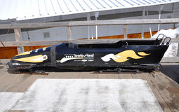 Bobsled in Lake Placid Olympic Sports Complex, USA Royalty Free Stock Photos