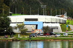 Bobsled  luge  and skeleton track at Königssee Stock Photography