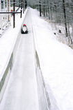 Bobsled. Sliding down course  , Lake Placid, New York Royalty Free Stock Photos