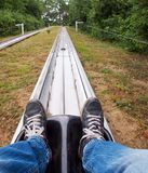 Bobsled track Stock Images
