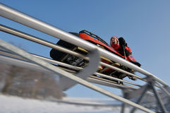 bobsleigh Royaltyfria Bilder