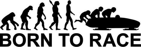 Bobsleigh ewolucja Urodzona ścigać się ilustracja wektor