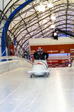 Bobsleigh puchar świata Calgary Kanada 2014 Obrazy Royalty Free
