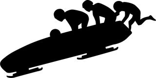 Bobsleigh Silhouette Stock Images