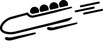 Bobsleigh Speed Icon Stock Photography