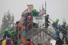 Bobsleigh supporters Stock Images