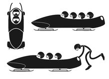 Bobsleigh. Vector illustration (EPS 10 Royalty Free Stock Image