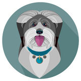 Bobtail dog face - vector illustration Stock Photos
