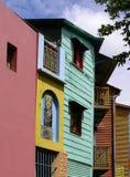 boca五颜六色的房子la 免版税库存图片