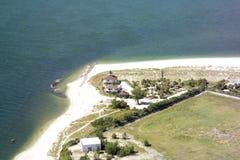 boca佛罗里达重创的灯塔 免版税库存图片