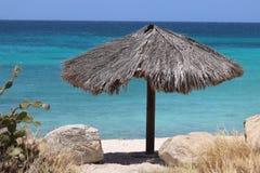 Boca卡塔利娜海滩-阿鲁巴 免版税库存图片