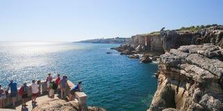 Boca在卡斯卡伊斯,葡萄牙做地域 库存图片