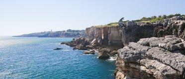 Boca在卡斯卡伊斯,葡萄牙做地域 免版税库存照片