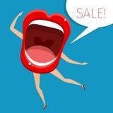 A boca aberta da mulher Fotografia de Stock Royalty Free