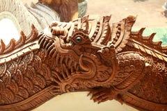 Boca aberta do dragão do norte tailandês imagem de stock royalty free