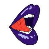 boca aberta dos desenhos animados cômicos Imagens de Stock