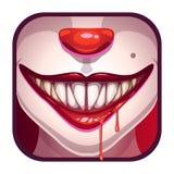 Boca assustador do vampiro com sangue ilustração stock