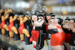 Boca Caminito. Figures of street dancers in street museum in La Boca Stock Photo