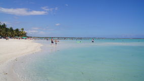Boca Chica Beach, des Caraïbes. Santo Domingo, Domini Image libre de droits