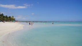 Boca Chica Beach som är karibisk. Santo Domingo Domini Royaltyfri Bild