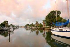 Boca Ciega Bay. Docked boats on Boca Ciega Bay Royalty Free Stock Photography