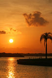 Boca Ciega Bay Sunrise Stock Image