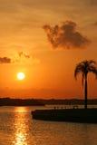 boca ciega bay wschód słońca Obraz Stock