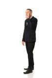 Boca completa da coberta do homem de negócios do comprimento Imagem de Stock Royalty Free