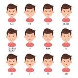 Boca da conversa da animação do caráter ilustração stock