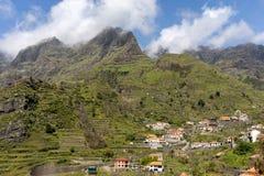Δείτε το πέρασμα Boca DA Encumeada στο νησί της Μαδέρας στοκ εικόνες με δικαίωμα ελεύθερης χρήσης