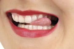 Boca da mulher foto de stock