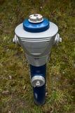 Boca de incêndio azul isolada Imagem de Stock