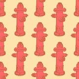 Boca de incêndio de fogo do esboço no estilo do vintage Imagem de Stock