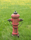 Boca de incêndio de fogo do vintage Imagem de Stock Royalty Free