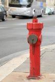 A boca de incêndio de fogo em ruas de Roma Foto de Stock Royalty Free