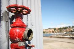 Boca de incêndio de fogo vermelho Foto de Stock Royalty Free