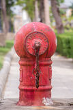 Boca de incêndio de fogo vermelho fotos de stock royalty free