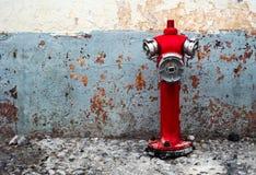 Boca de incêndio de fogo vermelho Fotografia de Stock