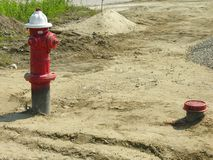 Boca de incêndio de incêndio Fotografia de Stock