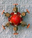 Boca de incêndio de incêndio fixada na parede Imagem de Stock