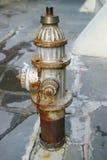 Boca de incêndio de incêndio oxidada imagens de stock royalty free