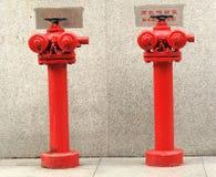 Boca de incêndio de incêndio para arranha-céus Fotografia de Stock