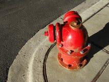 Boca de incêndio de incêndio redonda foto de stock royalty free
