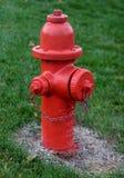 Boca de incêndio de incêndio vermelho Imagem de Stock