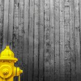 Boca de inc?ndio de fogo amarela imagem de stock royalty free