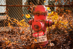 Boca de incendios abandonada Imágenes de archivo libres de regalías
