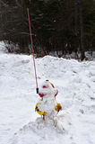 Boca de incendios nevada Imagen de archivo libre de regalías