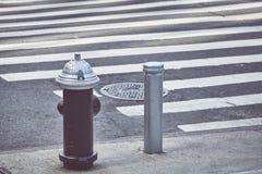 Boca de incendios de New York City imagenes de archivo